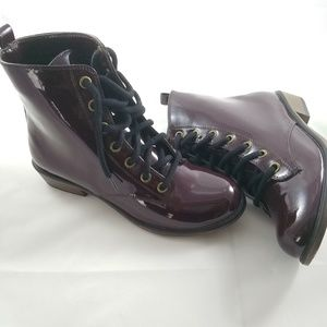 Leila Stone Burgundy Ankle Boots